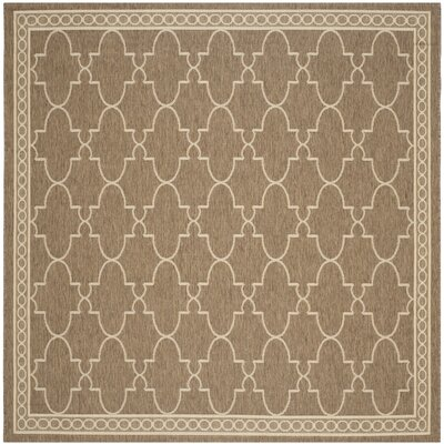 Alderman Dark Beige/Beige Indoor/Outdoor Area Rug Rug Size: Square 710