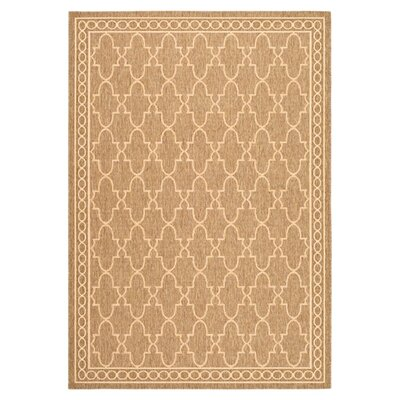 Octavius Dark Beige/Beige Indoor/Outdoor Area Rug Rug Size: Rectangle 4 x 57