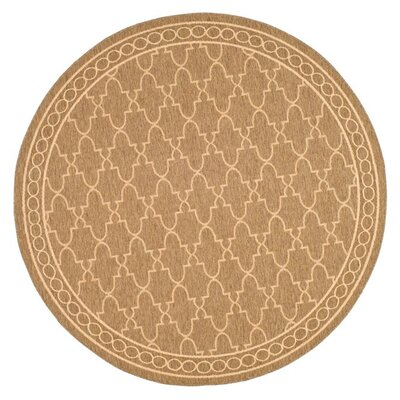 Alderman Dark Beige/Beige Indoor/Outdoor Area Rug Rug Size: Round 710