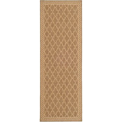 Alderman Dark Beige/Beige Indoor/Outdoor Area Rug Rug Size: Runner 2'7