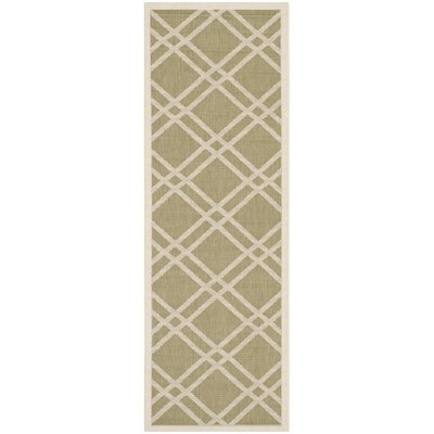 Octavius Green/Beige Indoor/Outdoor Area Rug Rug Size: Runner 23 x 10