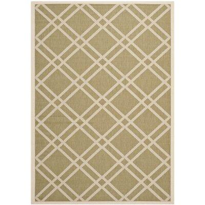 Octavius Green/Beige Indoor/Outdoor Area Rug Rug Size: 53 x 77