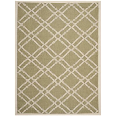 Octavius Green/Beige Indoor/Outdoor Area Rug Rug Size: 9 x 12