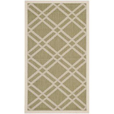 Octavius Green/Beige Indoor/Outdoor Area Rug Rug Size: Rectangle 2 x 37