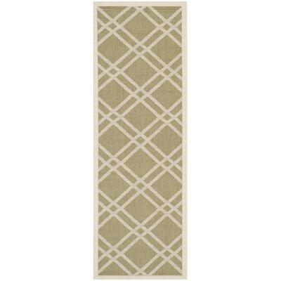 Octavius Green/Beige Indoor/Outdoor Area Rug Rug Size: Runner 23 x 67