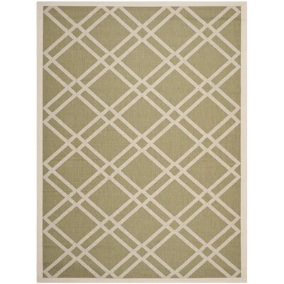 Alderman Green/Beige Indoor/Outdoor Area Rug Rug Size: 67 x 96