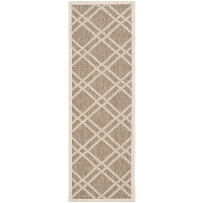 Octavius Brown Indoor/Outdoor Area Rug Rug Size: Runner 23 x 10