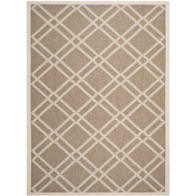Alderman Brown/Bone Indoor/Outdoor Area Rug Rug Size: 67 x 96