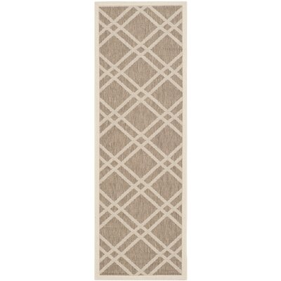 Alderman Brown/Bone Indoor/Outdoor Area Rug Rug Size: Runner 23 x 67