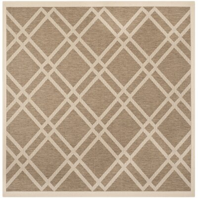 Octavius Brown Indoor/Outdoor Area Rug Rug Size: Square 710
