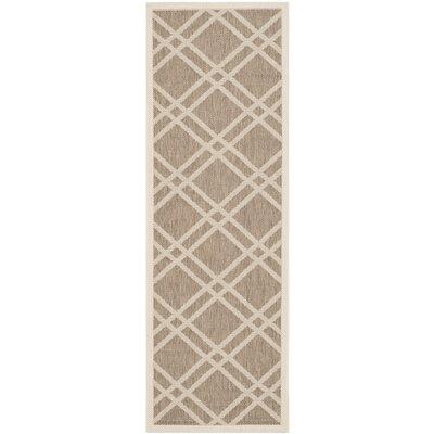 Octavius Brown Indoor/Outdoor Area Rug Rug Size: Rectangle 27 x 5