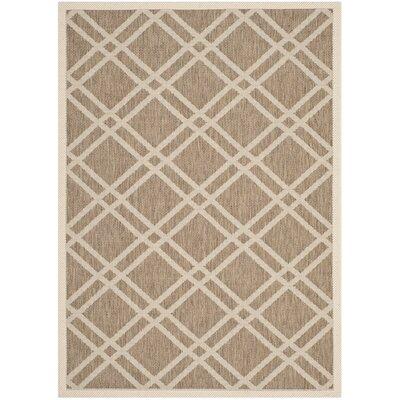 Alderman Brown/Bone Indoor/Outdoor Area Rug Rug Size: 4 x 57
