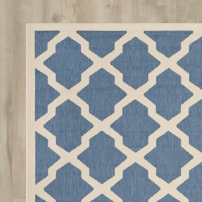 Alderman Blue/ Beige Indoor/Outdoor Area Rug