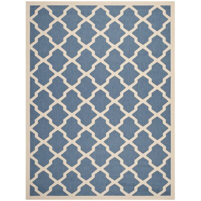 Octavius Blue/ Beige Indoor/Outdoor Area Rug Rug Size: Rectangle 8 x 11