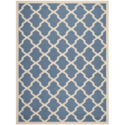 Octavius Blue/ Beige Indoor/Outdoor Area Rug Rug Size: Rectangle 53 x 77