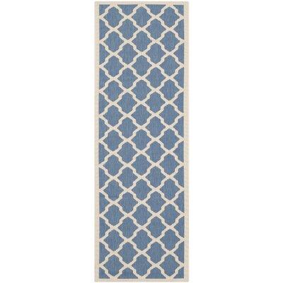 Alderman Blue/ Beige Indoor/Outdoor Area Rug Rug Size: Runner 23 x 8