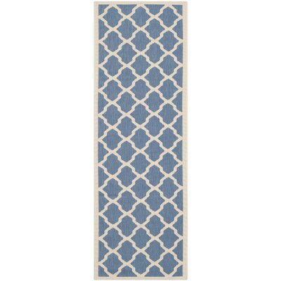 Octavius Blue/ Beige Indoor/Outdoor Area Rug Rug Size: Rectangle 27 x 5