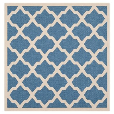 Octavius Blue/ Beige Indoor/Outdoor Area Rug Rug Size: Square 4