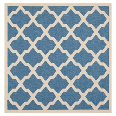 Alderman Blue/ Beige Indoor/Outdoor Area Rug Rug Size: Square 710