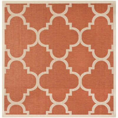 Octavius Natural/Terracotta Outdoor Area Rug Rug Size: Square 67
