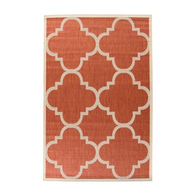 Octavius Natural/Terracotta Outdoor Area Rug Rug Size: Rectangle 8 x 11