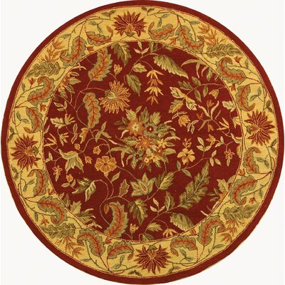 Helena Floral Area Rug Rug Size: Round 8