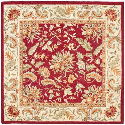 Helena Floral Area Rug Rug Size: Square 8