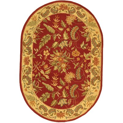 Helena Floral Area Rug Rug Size: Oval 76 x 96