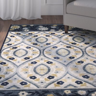 Morgantown Ivory Blue Area Rug