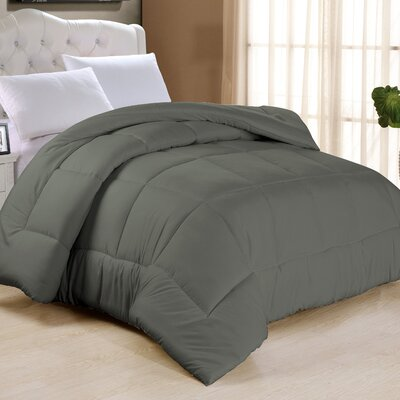 Frankton Down Alternative Ultra Plush Comforter Size: King, Color: Gray