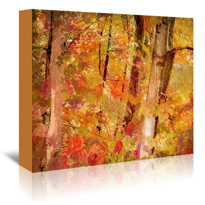 Fall Forest Painting Print on Wrapped Canvas