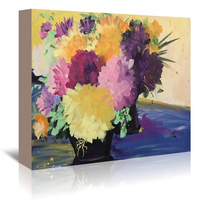 Flowers Painting Print on Wrapped Canvas