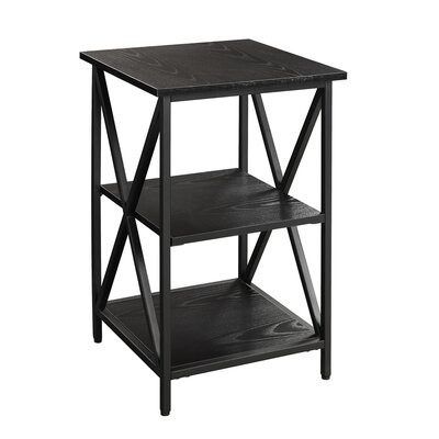 Abbottsmoor End Table With Storage Color: Black