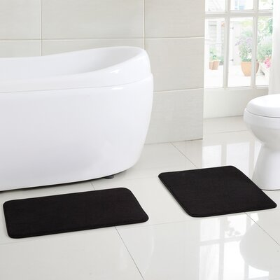 Clarkstown Bath Rug Color: Black