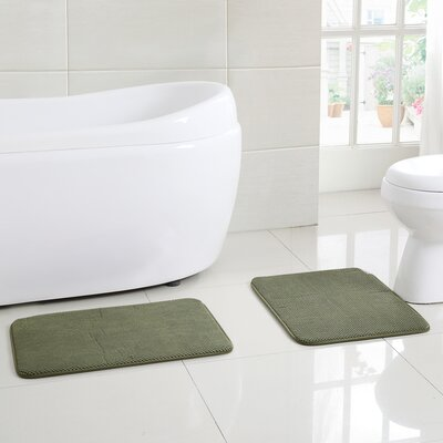Clarkstown Bath Rug Color: Green