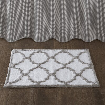 Berke Bath Rug Size: 20 x 30, Color: Grey