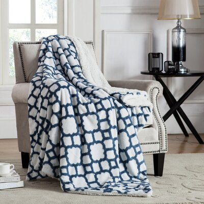 Mullins Jacquard Polyester Throw Color: Teal
