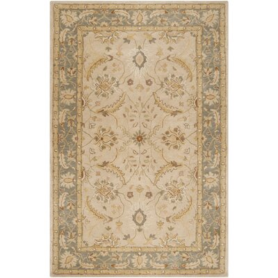 Florence Hand-Woven Putty Area Rug Rug Size: Rectangle 5 x 8