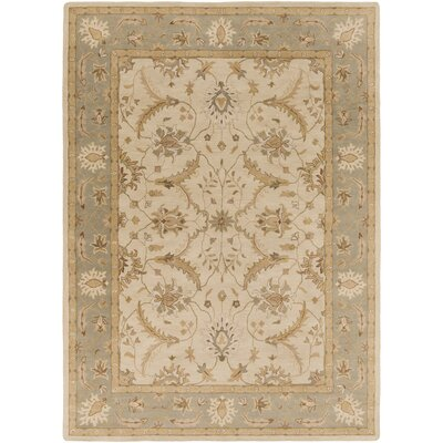 Laurel Valley Hand-Tufted Brown/Green Area Rug Rug size: 8 x 11