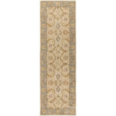 Florence Hand-Woven Putty Area Rug Rug Size: Runner 26 x 8