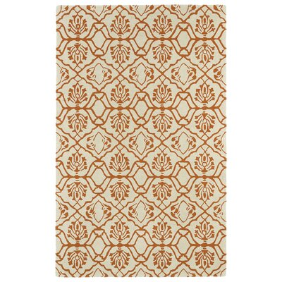 Corine Orange Area Rug Rug Size: 3 x 5