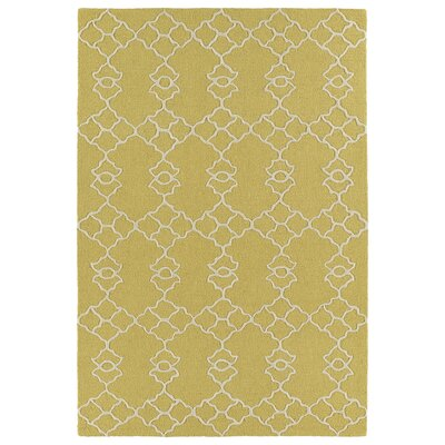 Bryant Handmade Gold Area Rug Rug Size: 3 x 5