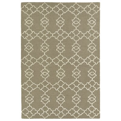 Bryant Handmade Light Brown Area Rug Rug Size: 5 x 7