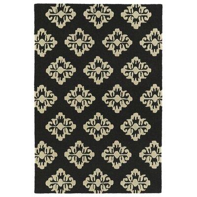 Bryant Handmade Black Area Rug Rug Size: 8 x 10
