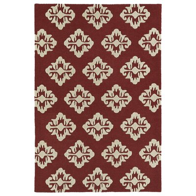 Bryant Handmade Cranberry Area Rug Rug Size: 3 x 5
