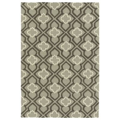 Bryant Handmade Gray Area Rug Rug Size: 5 x 7