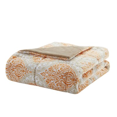Chatsworth Plush Down Alternative Throw Color: Orange