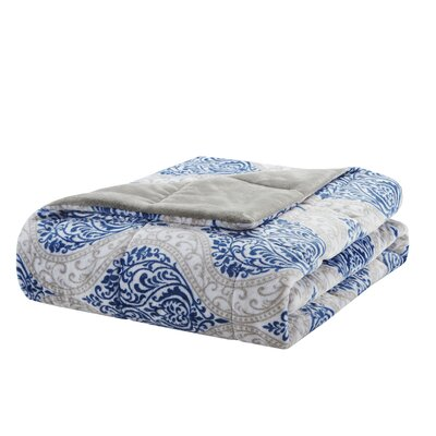 Chatsworth Plush Down Alternative Throw Color: Indigo