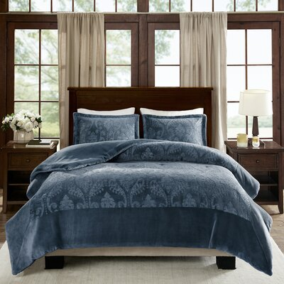 Carpentersville Comforter Set Size: Full/Queen, Color: Blue