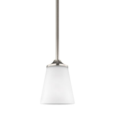 Cranor 1-Light Mini Pendant Finish: Brushed Nickel